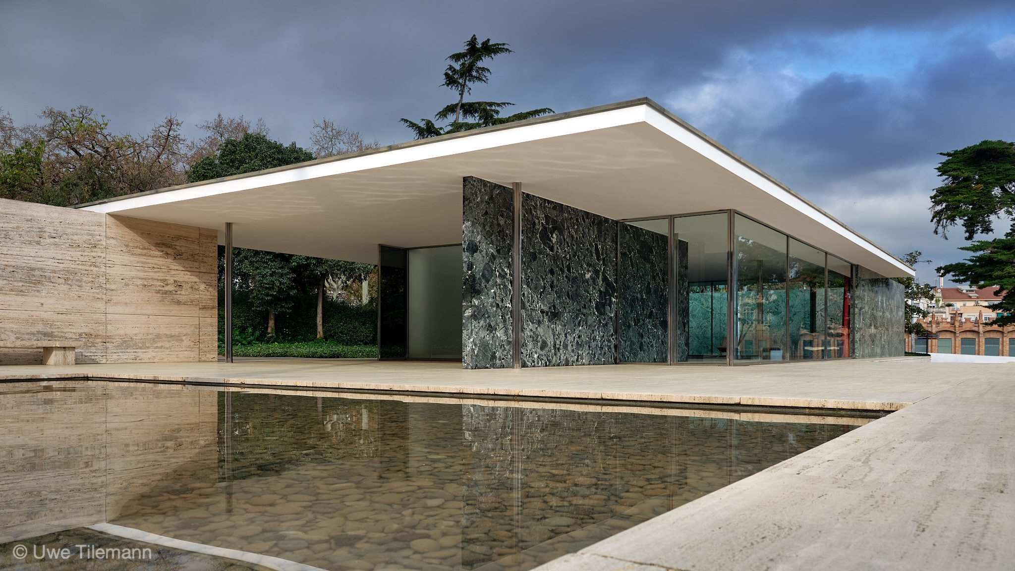 Barcelona Pavilion in March 2019